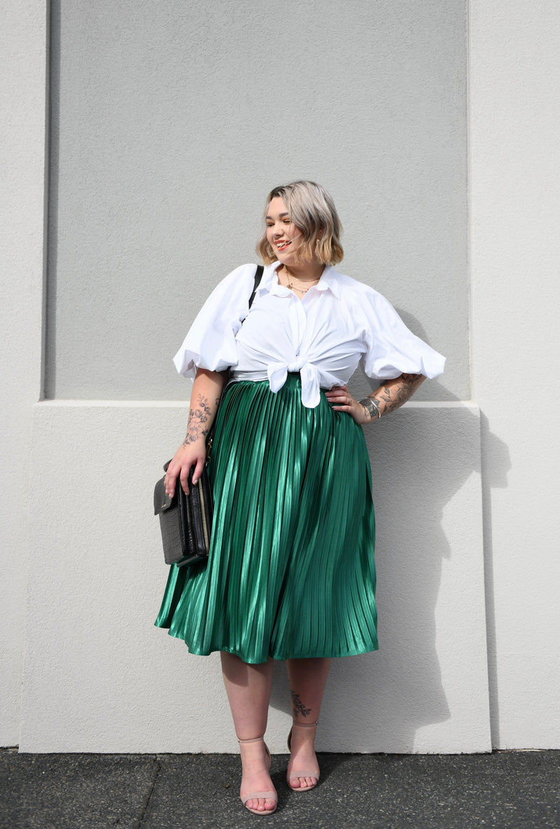 Nina Pleated Skirt - Emerald