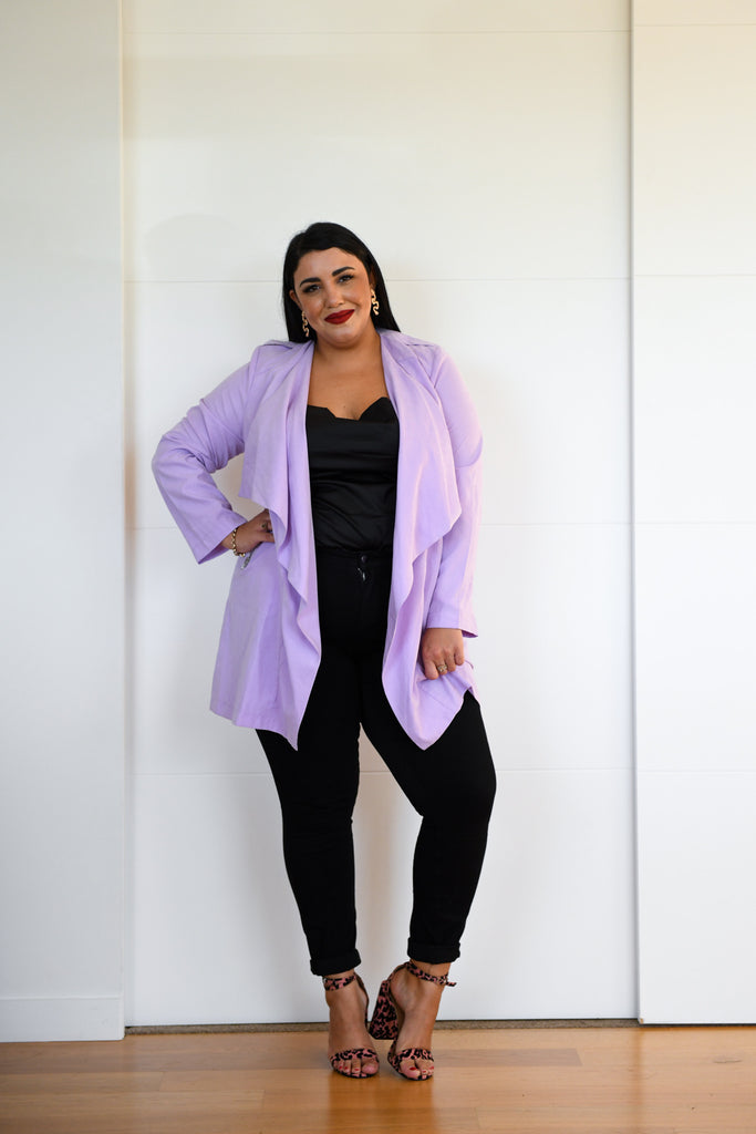 Kate Jacket - Lilac - Friday Flamingo