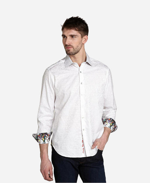 Cotton Shirt with Block Technique
