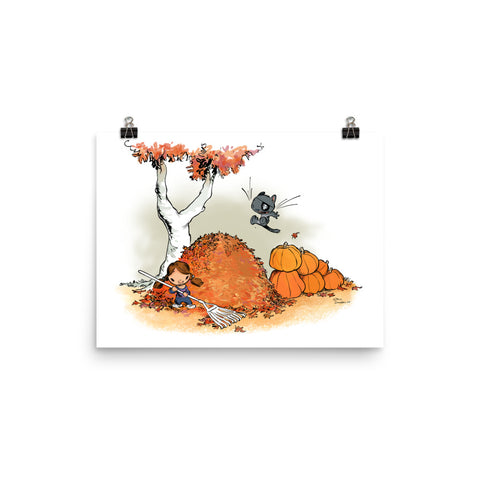 Autumn in Kiskaloo - enhanced matte paper poster