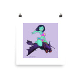 Belfry Bats Cheerleader - enhanced matte paper poster