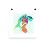 Mahi Girl - enhanced matte paper poster