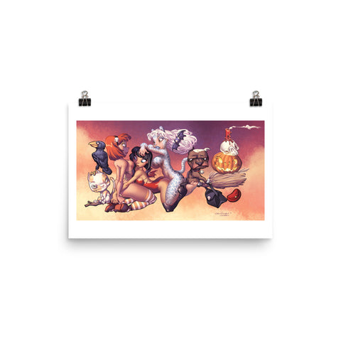 Party Witches - enhanced matte paper poster