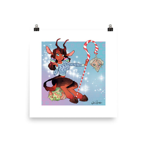 Lady Krampus - enhanced matte paper poster