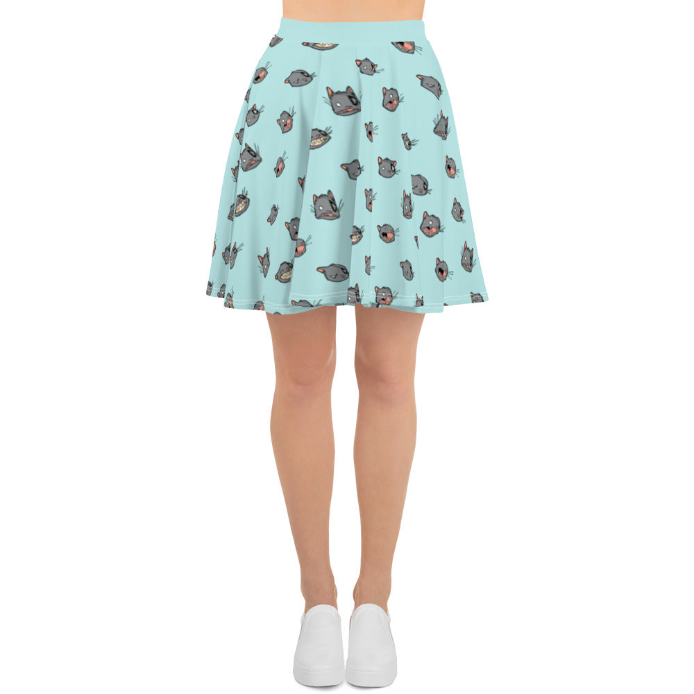 Ogo Faces - skater skirt