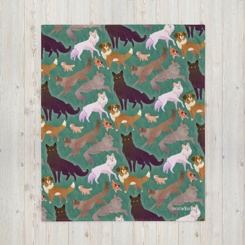 COTW throw blanket - Wild Family