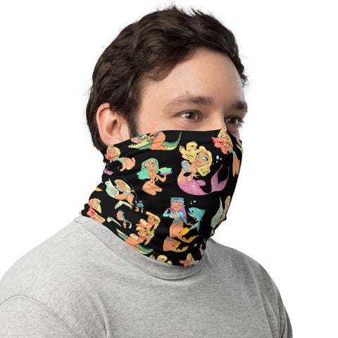 Florida Girls (black) - Pin-Up neck gaiter