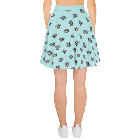 Ogo Faces - KISKALOO skater skirt