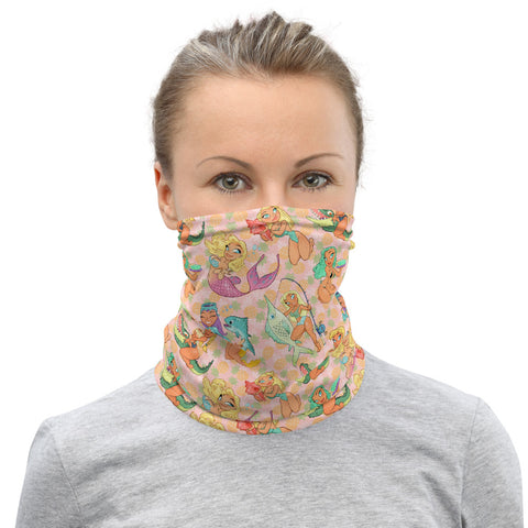 Pin-Up neck gaiter - Florida Girls (Pink Pineapple)