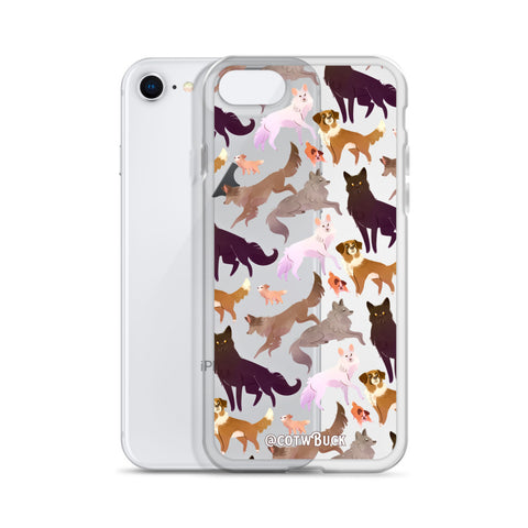 COTW iPhone case - Wild Family (clear)