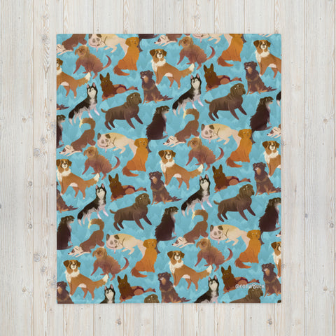 COTW throw blanket - Sled Dogs