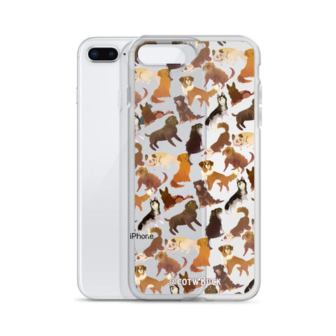 COTW iPhone case - Sled Dogs (clear)