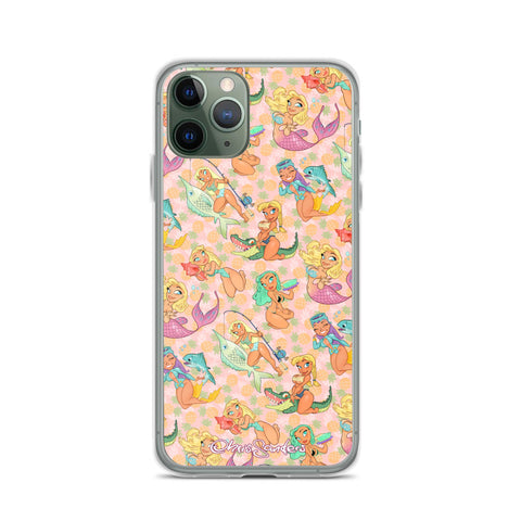 Florida Girls (Pink Pineapple) - Pin-Up iPhone case