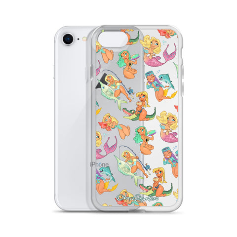 Florida Girls (clear) - Pin-Up iPhone case