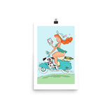 Scooter Girl - enhanced matte paper poster