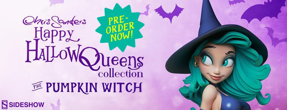 Pre-order the first Chris Sanders Happy HallowQueens statue: Pumpkin Witch, from Sideshow Collectibles