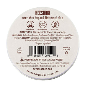 Savannah Bee Beeswax Salve - 2 oz
