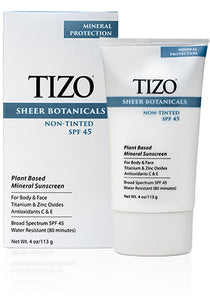 Sale - TiZO Sheer Botanicals Non-tinted SPF 45, 4oz - Face & Body