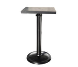 Monaco 24'' Square Pedestal Bar Table
