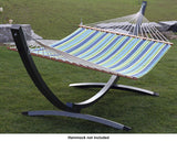 15ft ARC HAMMOCK STAND-ALUMINUM (OIL RUBBED BRONZE)