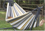 UHSDO9-25 DOUBLE COTTON HAMMOCK WITH STAND (9FT) Color: desert moon