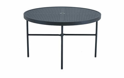 48'' ROUND DINING TABLE STAMP TOP (ROUND EXTRUSION LEGS)