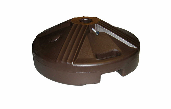 DARK BROWN UMBRELLA BASE (POLYPROPYLENE) - FACTORY WEIGHTED TO 50 LBS.