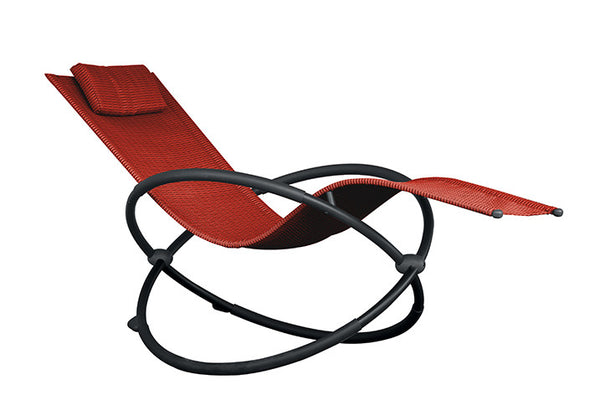 Orbital Lounger - Steel (Cherry Red)