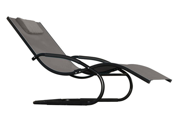 Wave Lounger - Aluminum- Black Chrome
