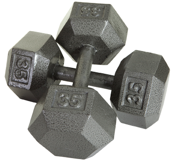 Troy USA - Solid Hex Dumbbells