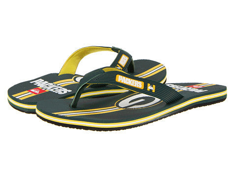 Quiksilver Men's Green Bay Packer Flip-Flops