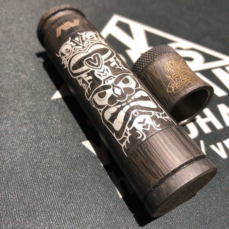 Avid Lyfe Able Tiki Mech Mod With Cap (Cap slightly marked) *Reduced to clear*