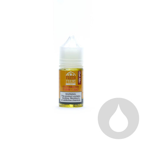 Fresh Farms - Strawberry Farm Cake Nic Salt - 30ml  - Eliquids NZ - New Zealand's Vape, Ecig & Eliquid Store