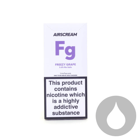 Airscream Pods - Freezy Grape - 2 Pack - Eliquids NZ - New Zealand's Vape, Ecig & Eliquid Store