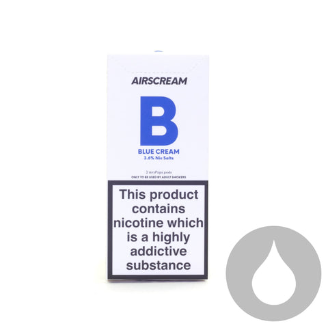Airscream Pods - Blue Cream - 2 Pack - Eliquids NZ - New Zealand's Vape, Ecig & Eliquid Store