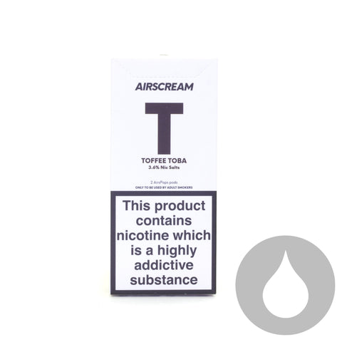 Airscream Pods - Toffee Toba - 2 Pack - Eliquids NZ - New Zealand's Vape, Ecig & Eliquid Store