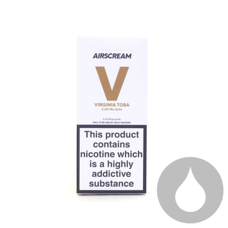 Airscream Pods - Virginia Toba - 2 Pack - Eliquids NZ - New Zealand's Vape, Ecig & Eliquid Store