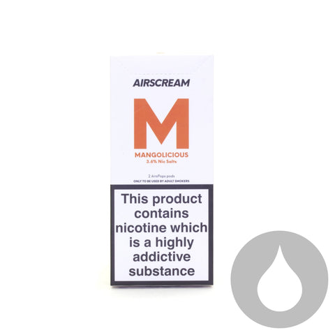 Airscream Pods - Mangolicious - 2 Pack - Eliquids NZ - New Zealand's Vape, Ecig & Eliquid Store