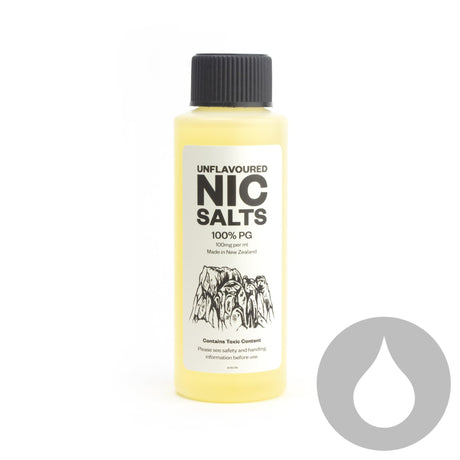 Unflavoured Nicotine Salt 100% PG - 100mg/ml - 120ml ***AUSTRALIAN CUSTOMERS ONLY***  - Eliquids NZ - New Zealand's Vape, Ecig & Eliquid Store