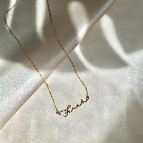 Classic Name Sterling Silver Necklace