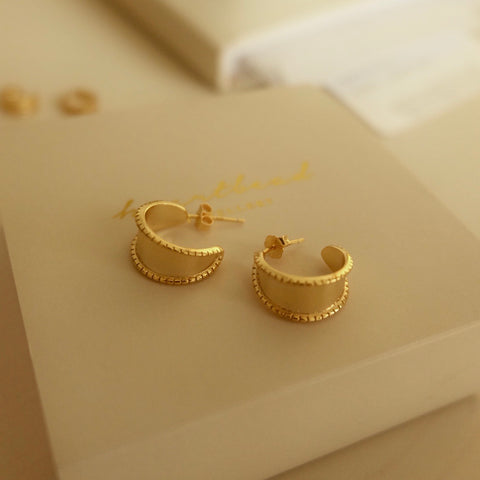 Rene Sterling Silver Gold Plated Earrings