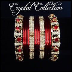 Plated Crystal Bangle Stack
