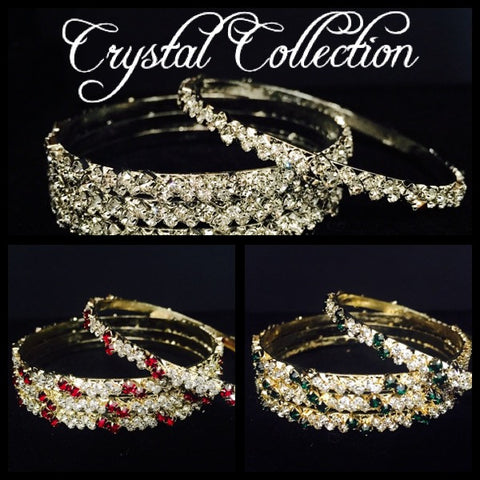 Plated Crystal Mix and Match Bangles