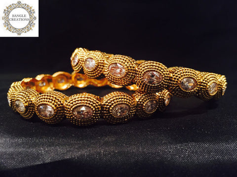 Gold Plated Jodha Bangle set of 2
