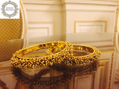 Gold Plated Moti Kada set of 2