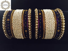 Moti Bangle Stack with Diamanté stones