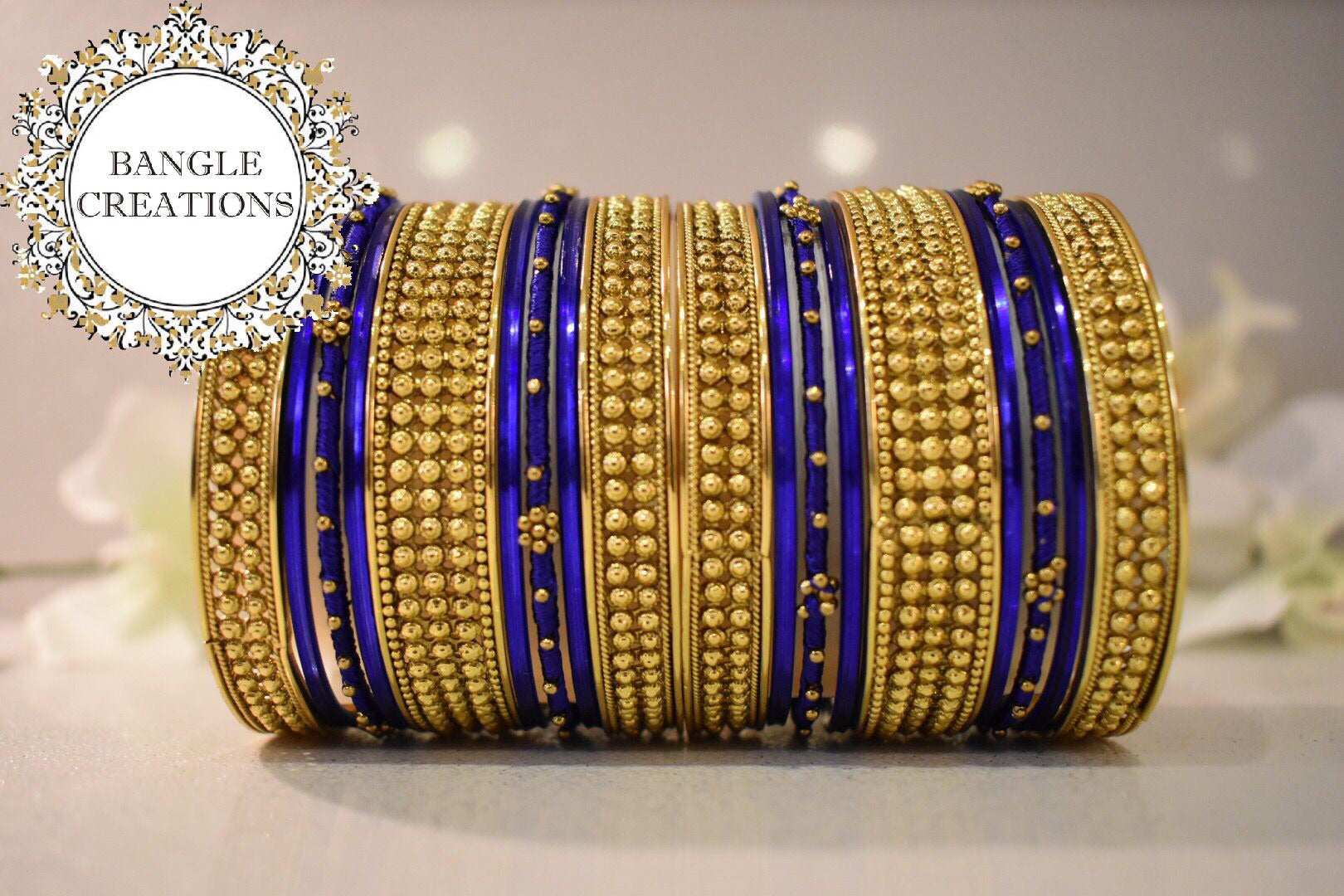 Manaka Gold Plated Bangle Stack