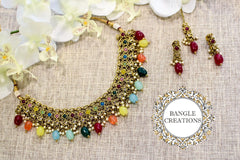Indian Inspired Jewellery Set (Rainbow)
