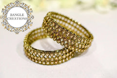 Aria Gold Plated Kada Pair