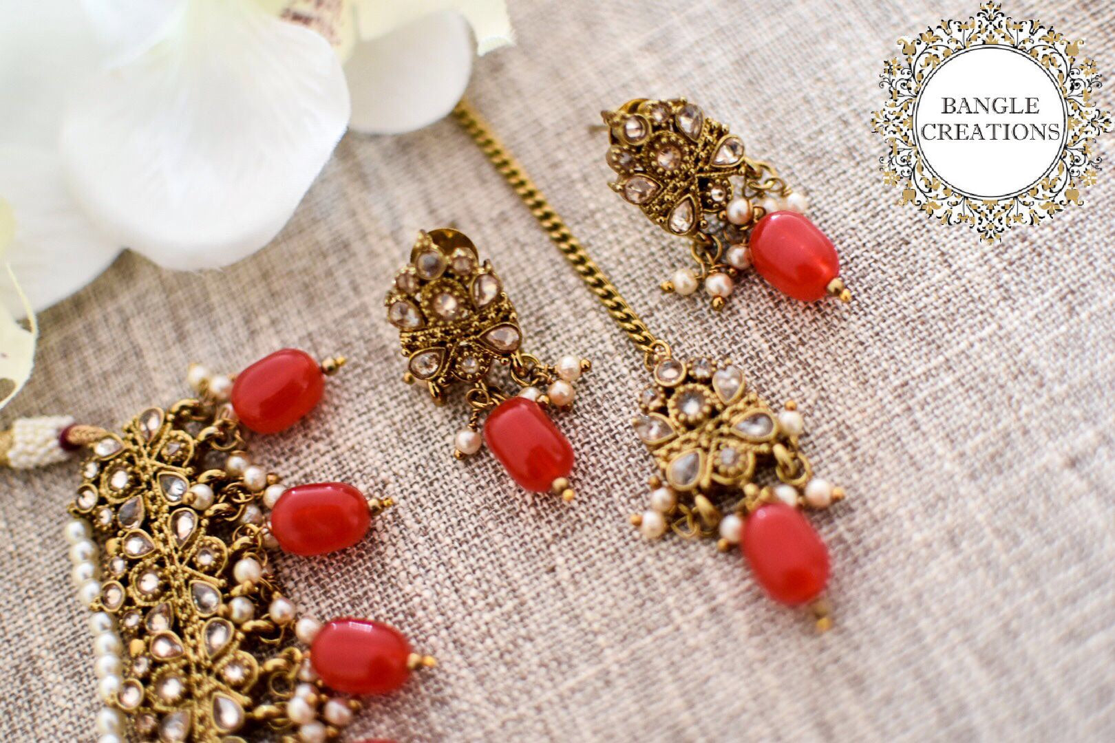 Indian Inspired Jewellery Set (Various Colours)